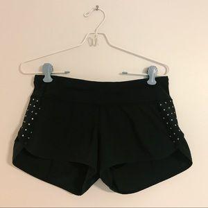 [lululemon] Black Speed Shorts Reflective Dots